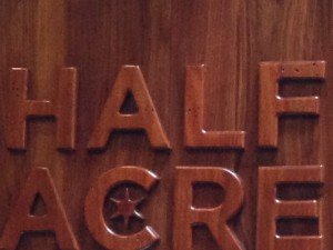 Half Acre Logo -  photo credit G. Rocha