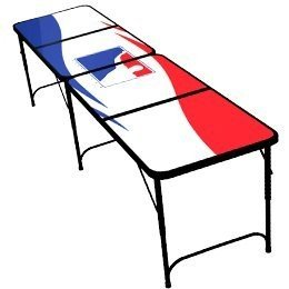 BPONG 8-Foot, Portable Beer Pong Table - White